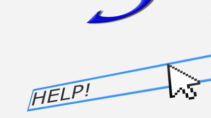 "Typing ""help!"" on a web search engine.  Final zoom out"