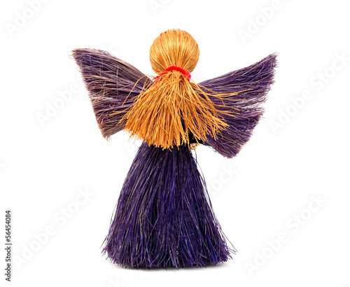 Back view of festive angel ornament