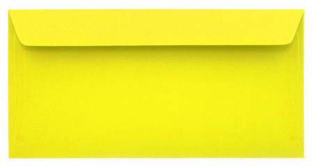 Yellow envelope isolated
