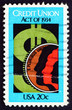 Postage stamp USA 1984 Dollar Sign and Coin