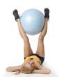 body gym girl with a big ball