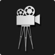 Movie Camera Regie Stars Icon Logo