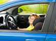 Little boy play big driving