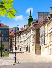 Downtown streets of Warsaw