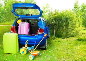 Packing a car for trip with kids