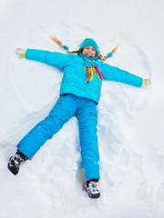 Little star in snow