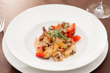 Chicken fillet with mushrooms