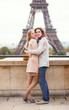 Couple spending their vacation in Paris