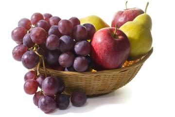 cesto di frutta fresca di stagione - autunno
