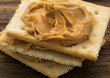 canvas print picture - Peanut Butter on Crackers