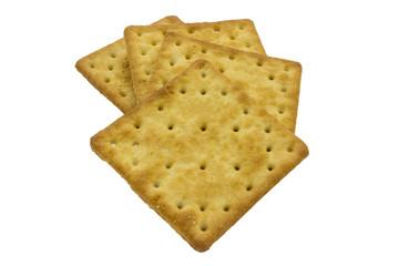 Cracker isolated on white backgroun