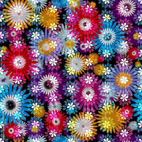 Seamless floral spring vivid pattern