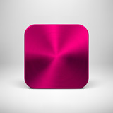 Technology App Icon with Magenta Metal Texture