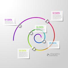 Spiral diagram infographics element