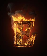 burning figure