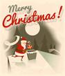 Merry Christmas. Vector illustration.