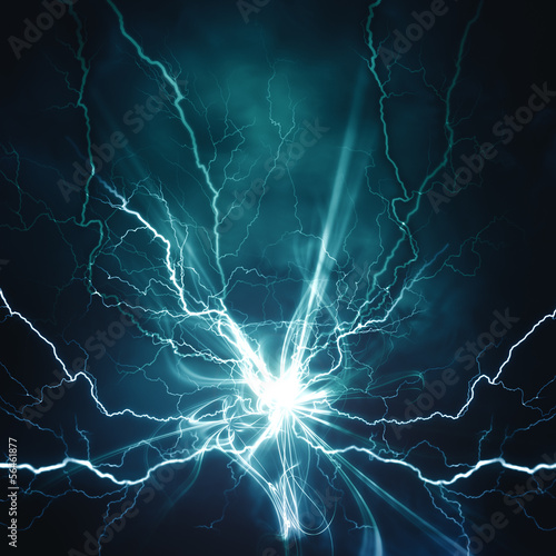 Leinwanddruck Bild Electric lighting effect, abstract techno backgrounds for your d