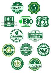 Natural and bio labels