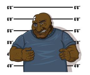 Afro-American prisoner