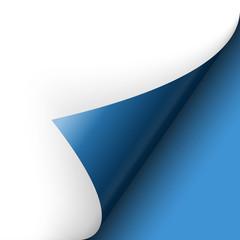 Papier - Ecke unten blau
