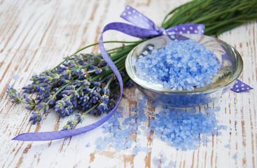 lavender  salt, and fresh flower