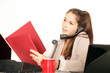gestresste Geschäftsfrau