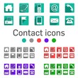 Contact icons 5 colors long shadow