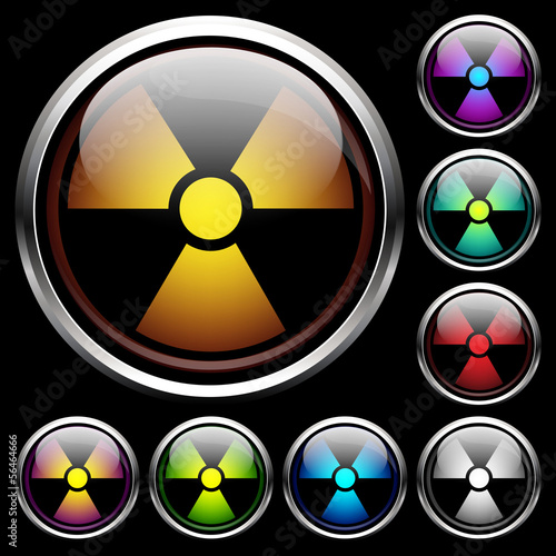 Set icons of radiation