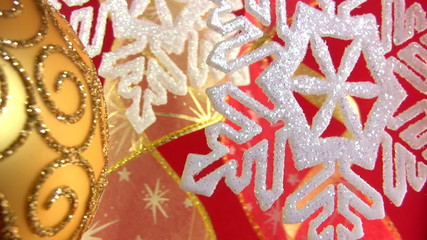 Christmas snowflake on a festive background