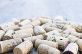 Corks with corkscrew