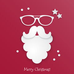 Merry Christmas greeting card design. Vector illustration