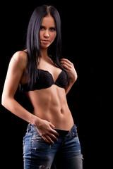 beautiful woman's body is in underwear