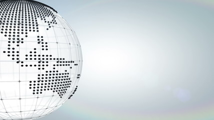 Dotted globe background