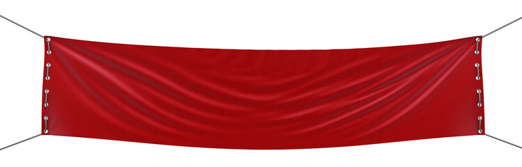 empty banner  (clipping path included)