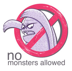 No monster allowd sign