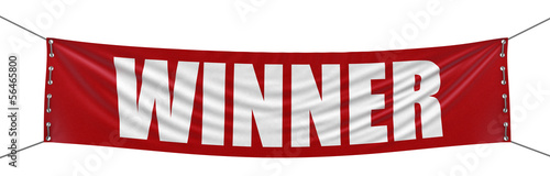 Winner Banner (clipping path included)