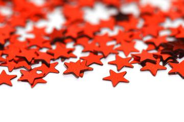 Red stars confetti