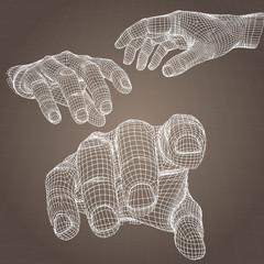 Vector model of hand