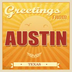 Vintage Austin, Texas poster
