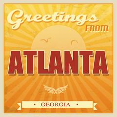 Vintage Atlanta, Georgia poster