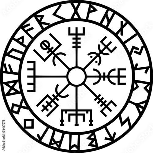 Vegvisir, Runen Kreis, Island, Navigator