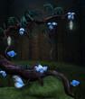 Fototapete Blau - Verzweigt - Pflanze