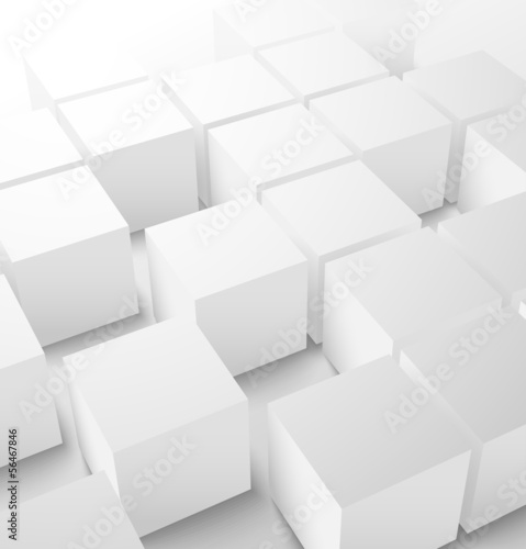 Sticker Abstract 3D cube background