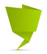 Schild Zettel gefaltet grün