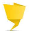 Schild Zettel gefaltet gelb