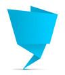Schild Zettel gefaltet blau