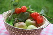 Herbstliche Grüße mit Äpfeln und Physalis
