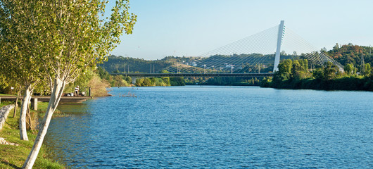 Panoramic view of the Mondego river