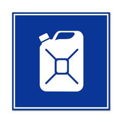 Cartel simbolo bidon de combustible