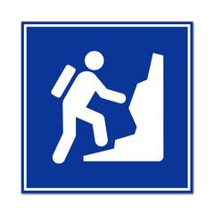 Cartel simbolo montañismo